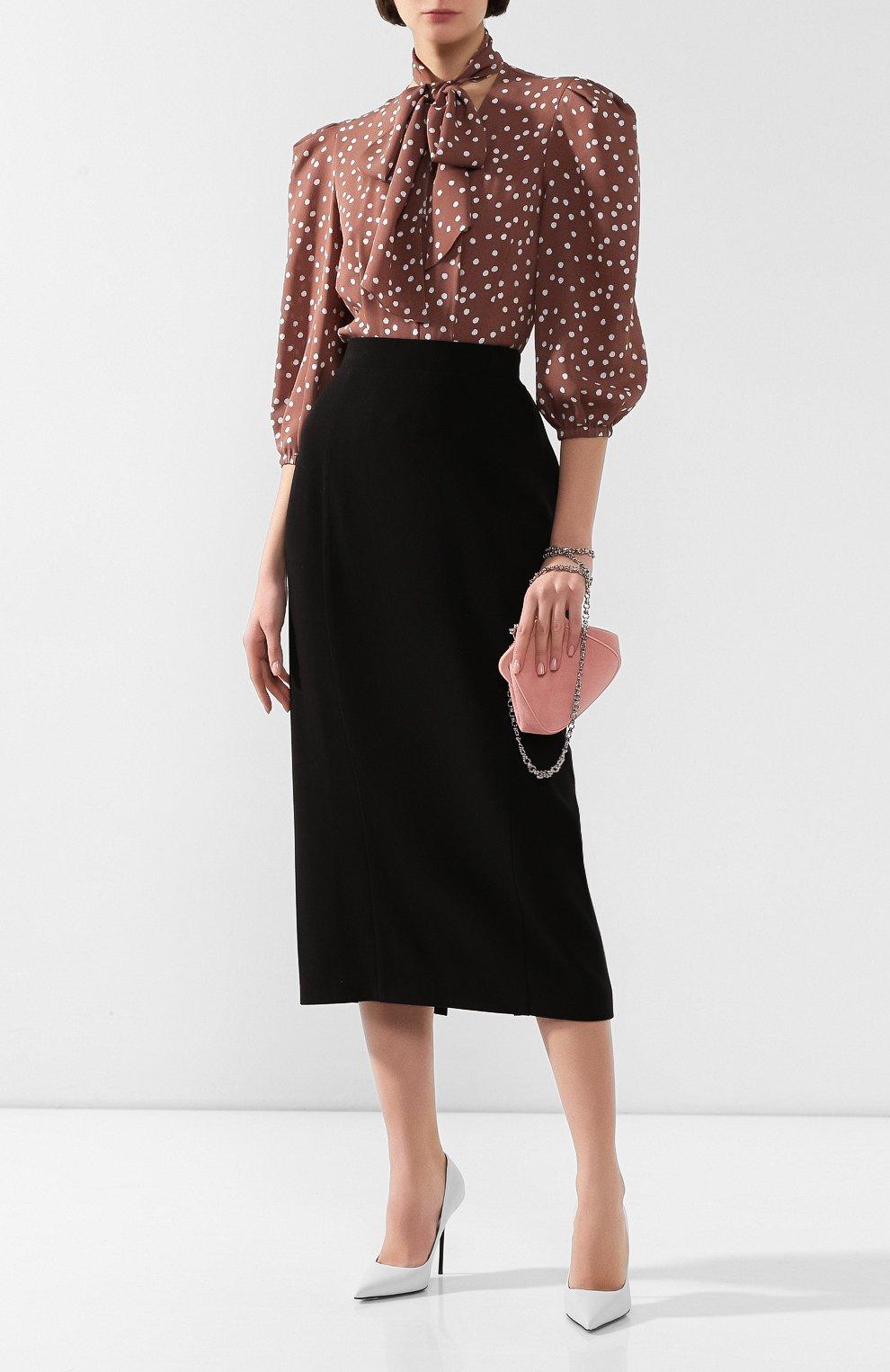 Женская юбка ULYANA SERGEENKO черного цвета, арт. 0153т19 (GNM005SS19P) | Фото 2