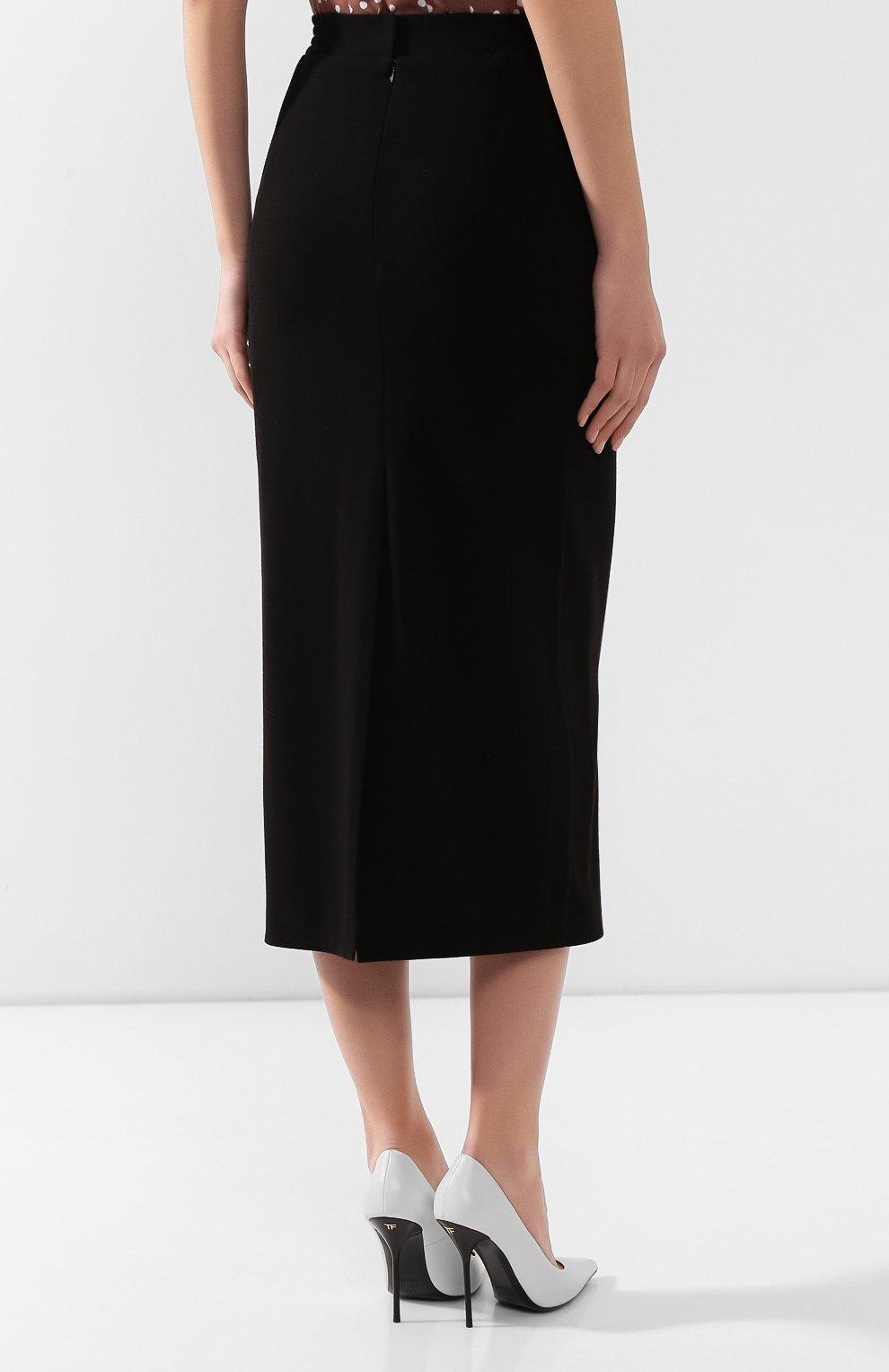 Женская юбка ULYANA SERGEENKO черного цвета, арт. 0153т19 (GNM005SS19P) | Фото 4