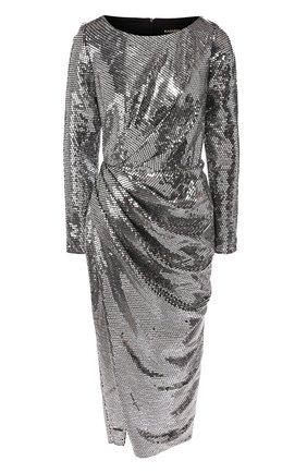 Женское платье с пайетками RASARIO серебряного цвета, арт. 0091W9 | Фото 1