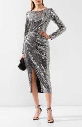 Женское платье с пайетками RASARIO серебряного цвета, арт. 0091W9 | Фото 2