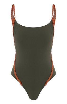 Женский слитный купальник GOTTEX хаки цвета, арт. 20BM020   Фото 1