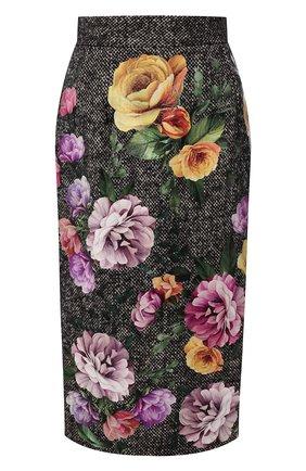 Женская юбка DOLCE & GABBANA разноцветного цвета, арт. F4BP0T/GDR21 | Фото 1