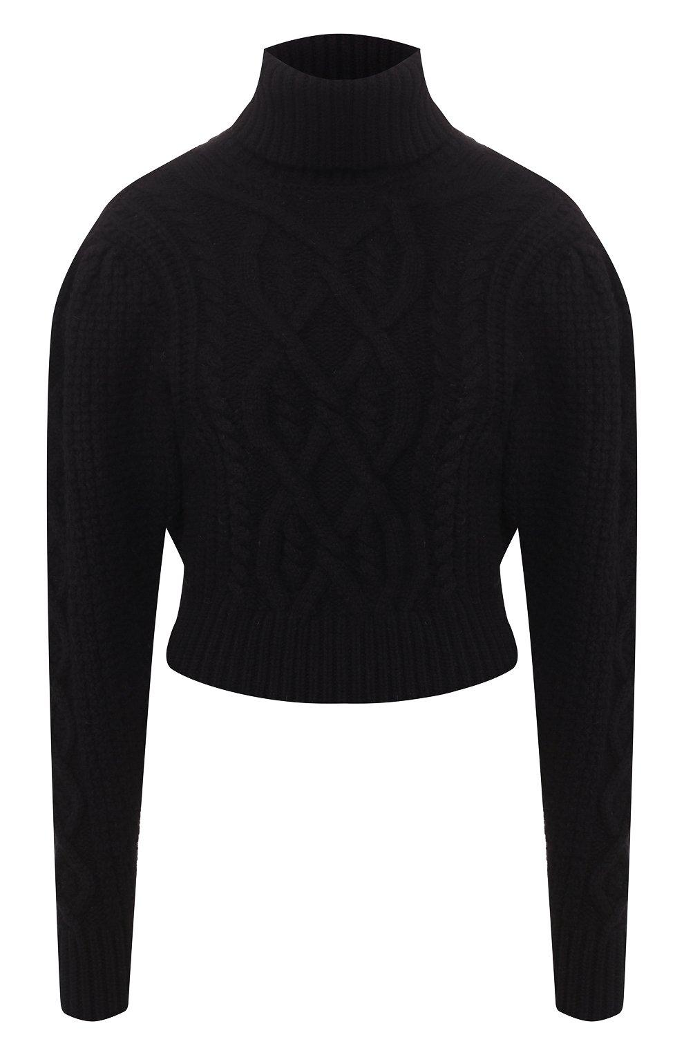 Женский шерстяной свитер WANDERING черного цвета, арт. WGW19903 | Фото 1