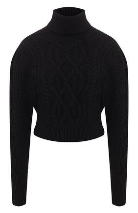 Женская шерстяной свитер WANDERING черного цвета, арт. WGW19903 | Фото 1