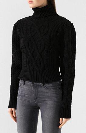 Женский шерстяной свитер WANDERING черного цвета, арт. WGW19903 | Фото 3