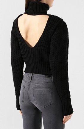 Женский шерстяной свитер WANDERING черного цвета, арт. WGW19903 | Фото 4