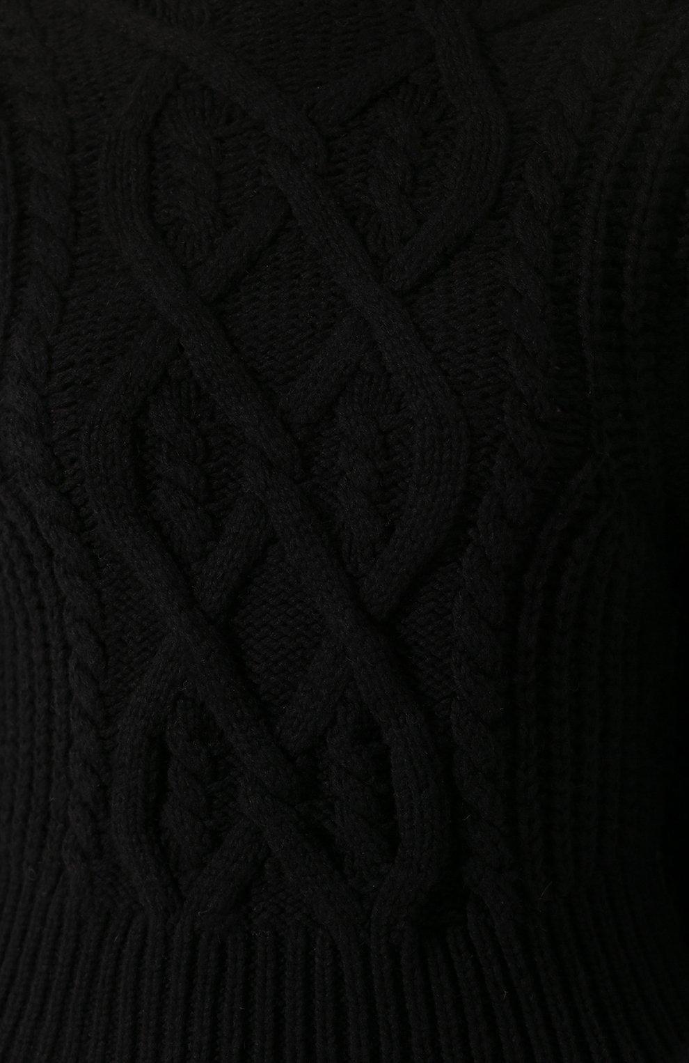 Женский шерстяной свитер WANDERING черного цвета, арт. WGW19903 | Фото 5