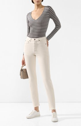 Женская пуловер из вискозы BRUNELLO CUCINELLI серебряного цвета, арт. M8S864542   Фото 2