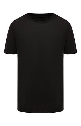Женская кашемировая футболка JOSEPH черного цвета, арт. JF004409   Фото 1
