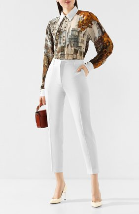 Женские брюки со стрелками EMILIO PUCCI белого цвета, арт. 0ERT50/0E602 | Фото 2