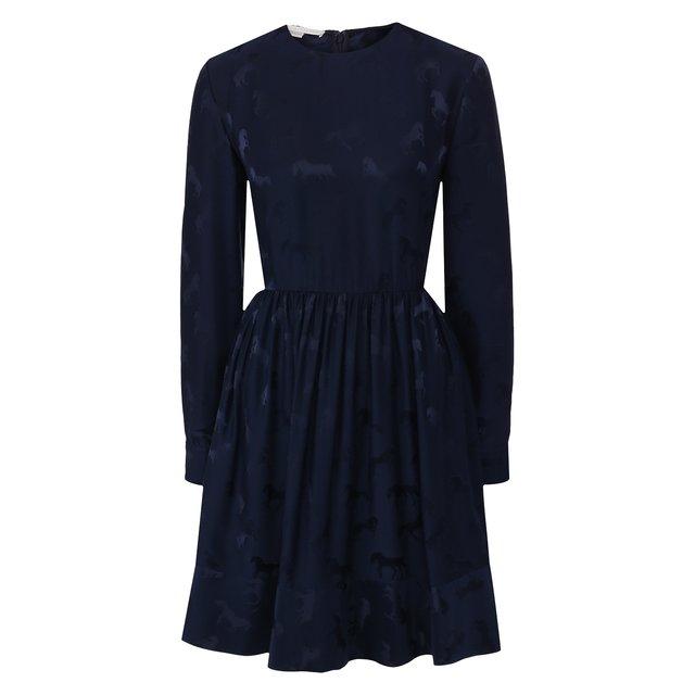 Платье из смеси хлопка и вискозы Stella McCartney