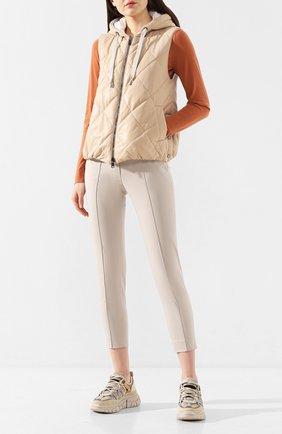 Женские хлопковые брюки LORO PIANA светло-серого цвета, арт. FAL0763 | Фото 2