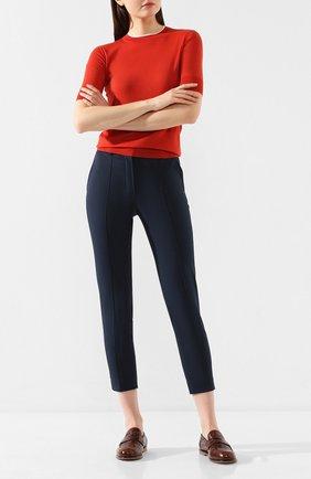 Женские хлопковые брюки LORO PIANA зеленого цвета, арт. FAL0763 | Фото 2