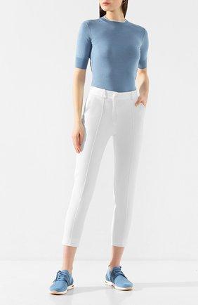 Женские хлопковые брюки LORO PIANA белого цвета, арт. FAL0763 | Фото 2