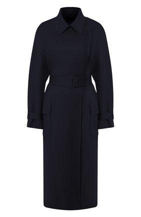 Женское кашемировое пальто LORO PIANA темно-синего цвета, арт. FAI9566 | Фото 1