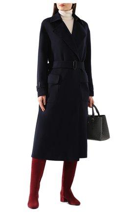 Женское кашемировое пальто LORO PIANA темно-синего цвета, арт. FAI9566 | Фото 2