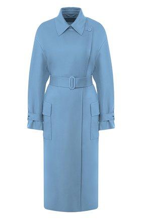 Женское кашемировое пальто LORO PIANA голубого цвета, арт. FAI9566 | Фото 1