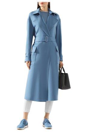 Женское кашемировое пальто LORO PIANA голубого цвета, арт. FAI9566 | Фото 2