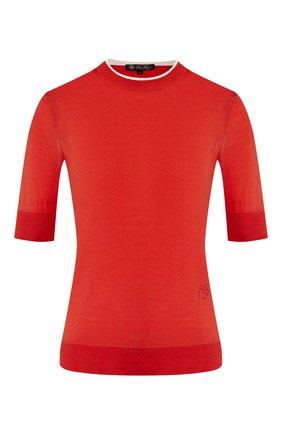 Женский пуловер из кашемира и шелка LORO PIANA красного цвета, арт. FAI8995 | Фото 1