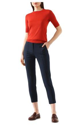 Женский пуловер из кашемира и шелка LORO PIANA красного цвета, арт. FAI8995 | Фото 2