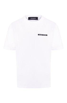 Женская хлопковая футболка DSQUARED2 белого цвета, арт. S80GC0002/S23009 | Фото 1