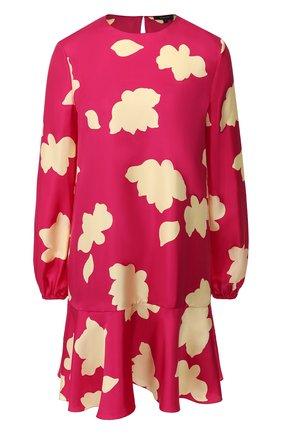 Женское шелковое платье THEORY фуксия цвета, арт. J1102602 | Фото 1