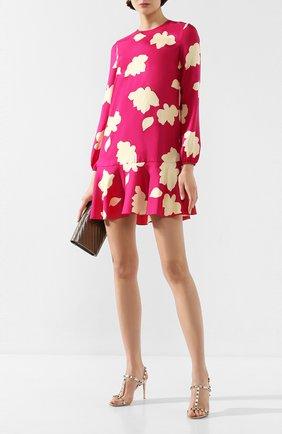 Женское шелковое платье THEORY фуксия цвета, арт. J1102602 | Фото 2