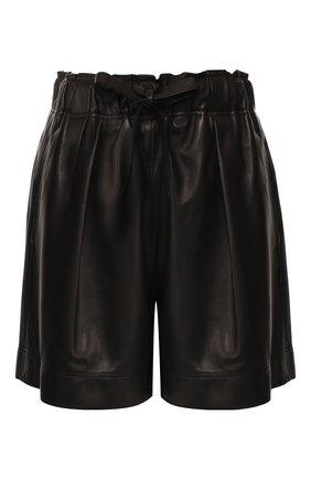 Женские кожаные шорты BRUNELLO CUCINELLI черного цвета, арт. M0GREP7205 | Фото 1