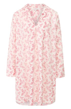 Женская хлопковая сорочка YOLKE розового цвета, арт. SS20-47C-CV-R0 | Фото 1