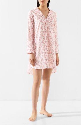 Женская хлопковая сорочка YOLKE розового цвета, арт. SS20-47C-CV-R0 | Фото 2