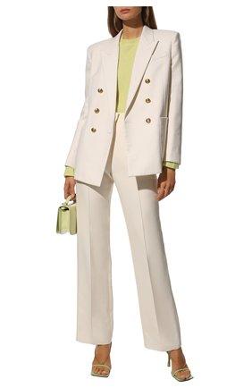 Женский кашемировый пуловер BOTTEGA VENETA желтого цвета, арт. 604910/VKJX0   Фото 2