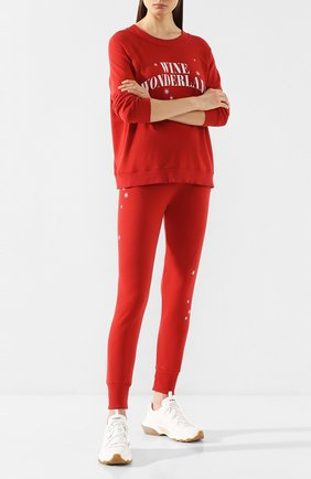 Женские хлопковые джоггеры WILDFOX красного цвета, арт. WC01653K7   Фото 2