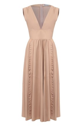 Женское кожаное платье REDVALENTINO розового цвета, арт. TR3ND00F/4TK | Фото 1