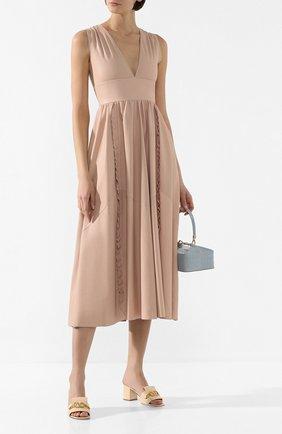Женское кожаное платье REDVALENTINO розового цвета, арт. TR3ND00F/4TK | Фото 2