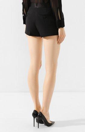 Женские шерстяные шорты TOM FORD черного цвета, арт. SH0010-FAX375   Фото 4 (Женское Кросс-КТ: Шорты-одежда; Материал внешний: Шерсть; Длина Ж (юбки, платья, шорты): Мини; Материал подклада: Вискоза; Статус проверки: Проверена категория)