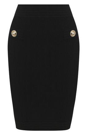 Женская юбка BALMAIN черного цвета, арт. TF14304/K030 | Фото 1