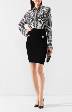 Женская юбка BALMAIN черного цвета, арт. TF14304/K030 | Фото 2