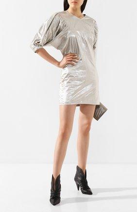 Женское платье ISABEL MARANT серебряного цвета, арт. R01652-20P029I/RADELA   Фото 2