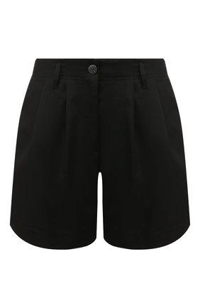 Женские хлопковые шорты FORTE_FORTE черного цвета, арт. 7019 | Фото 1