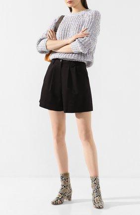 Женские хлопковые шорты FORTE_FORTE черного цвета, арт. 7019 | Фото 2