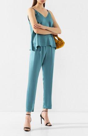 Женские брюки FORTE_FORTE синего цвета, арт. 7045 | Фото 2