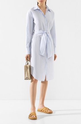 Женское хлопковое платье FORTE_FORTE голубого цвета, арт. 7073 | Фото 2