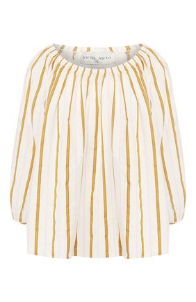 Женская блузка из смеси хлопка и вискозы FORTE_FORTE золотого цвета, арт. 7076 | Фото 1