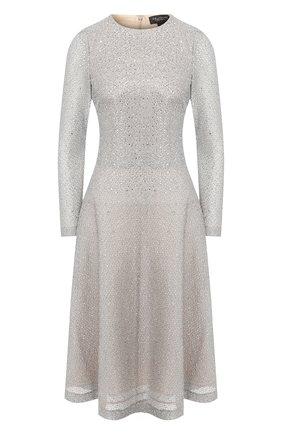 Женское платье ST. JOHN серебряного цвета, арт. K15Y021   Фото 1