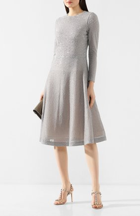 Женское платье ST. JOHN серебряного цвета, арт. K15Y021   Фото 2