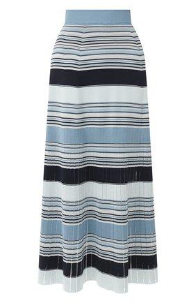Женская юбка из смеси шелка и хлопка LORO PIANA синего цвета, арт. FAI9429 | Фото 1