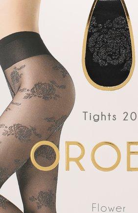 Женские капроновые колготки OROBLU черного цвета, арт. V0BC65989 | Фото 2