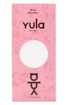 Детские колготки ivy 50 den YULA белого цвета, арт. YU-90   Фото 1 (Материал: Текстиль, Синтетический материал; Статус проверки: Проверена категория)