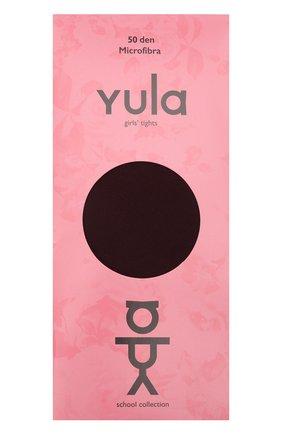 Детские колготки ivy 50 den YULA бордового цвета, арт. YU-92   Фото 1 (Материал: Синтетический материал, Текстиль; Статус проверки: Проверена категория)