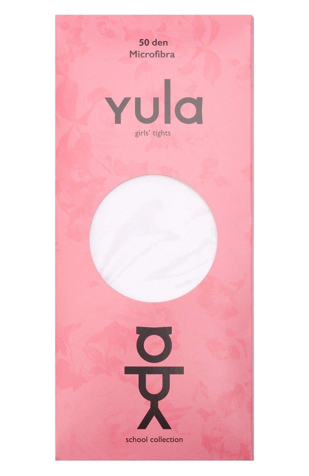 Детские колготки circles 50 den YULA белого цвета, арт. YU-94 | Фото 1